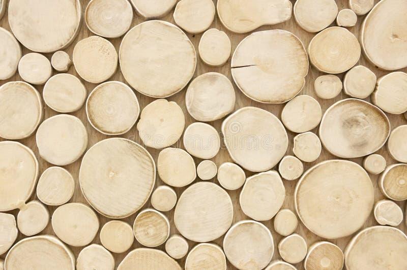 Modèles en bois abstraits de cercle Fond de concept images stock