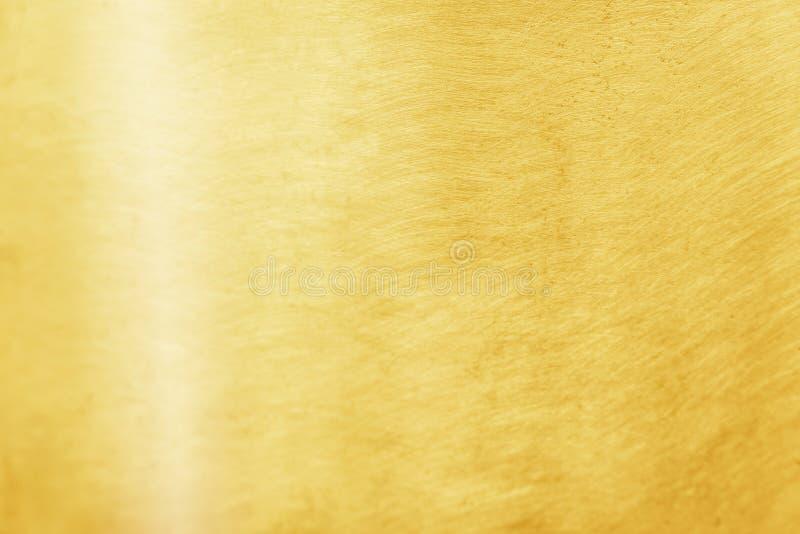 Modèles en laiton d'or de texture, fond abstrait en métal photo stock