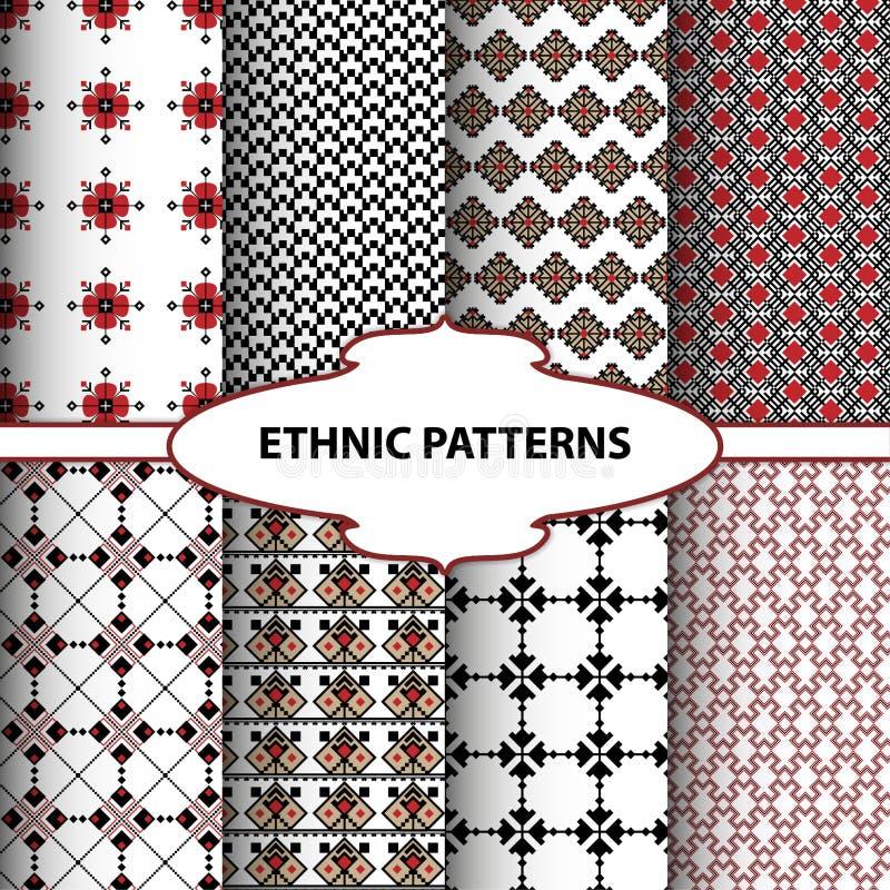Modèles ethniques géométriques illustration stock