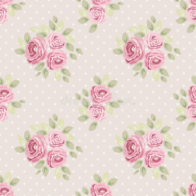 Modèles floraux chics minables sans couture de vintage mignon pour votre décoration illustration stock