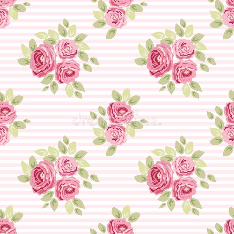 Modèles floraux chics minables sans couture de vintage mignon pour votre décoration illustration de vecteur