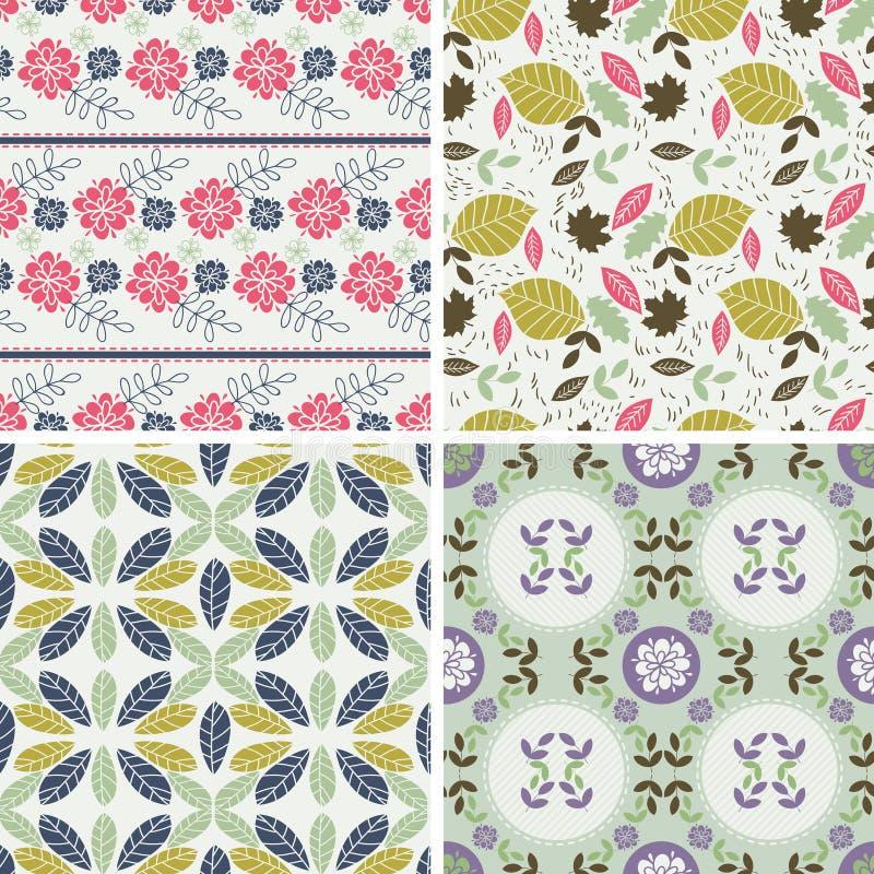 Modèles floraux et milieux sans couture Impression sur le tissu illustration de vecteur