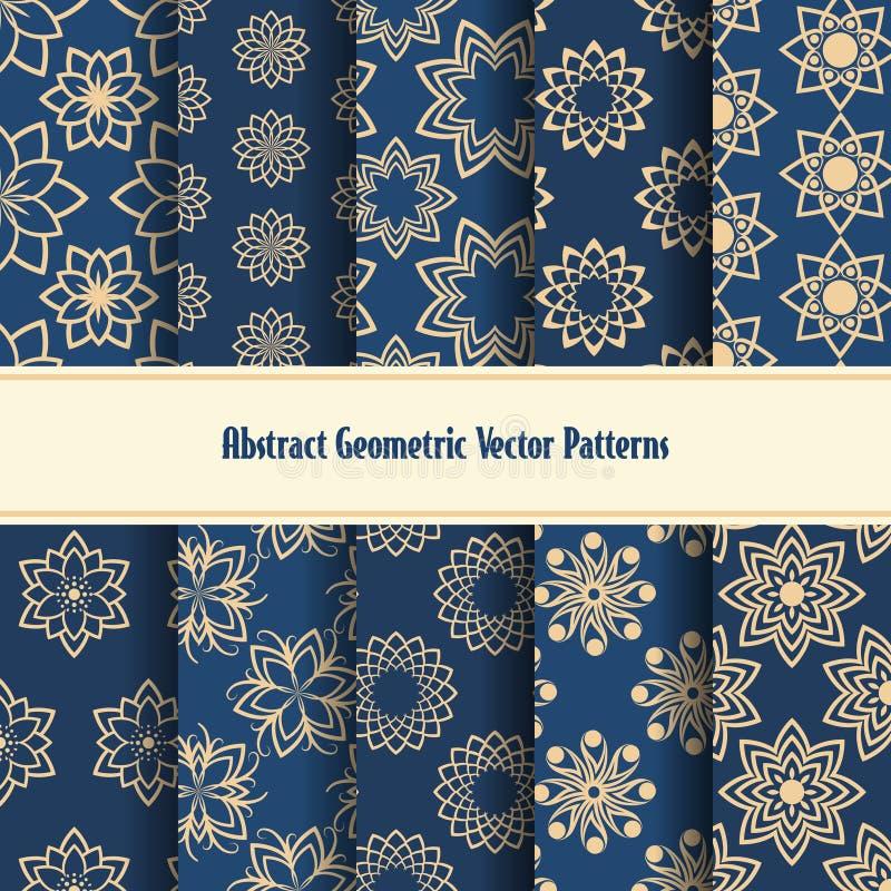Modèles géométriques abstraits de vecteur illustration libre de droits