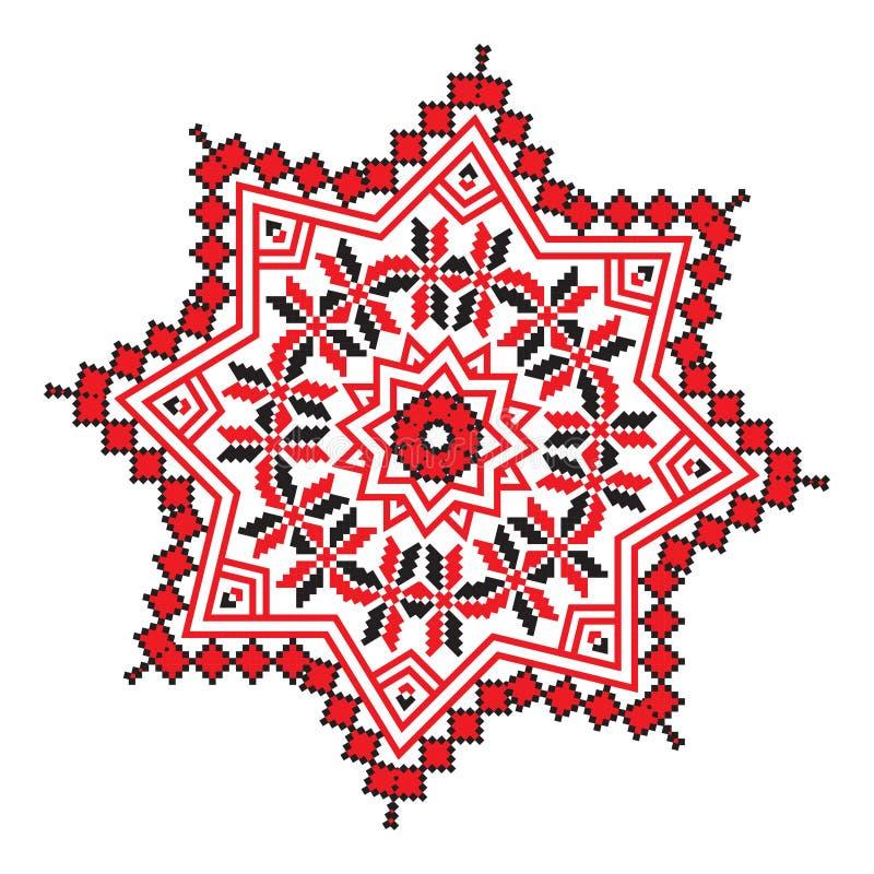mod les g om triques de mandala ethnique d 39 ornement dans la couleur rouge illustration stock. Black Bedroom Furniture Sets. Home Design Ideas