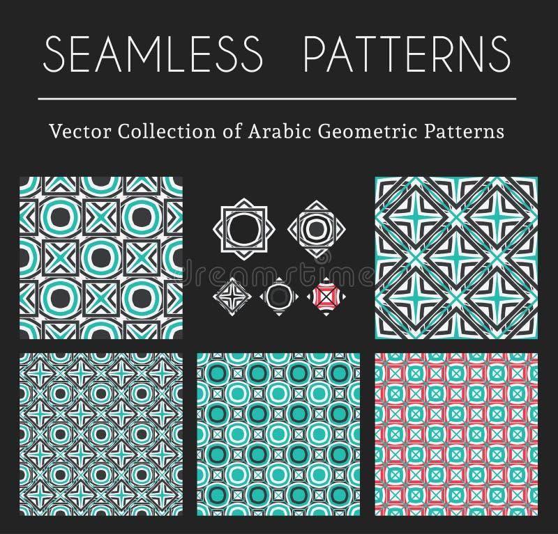 Modèles géométriques de vecteur illustration libre de droits