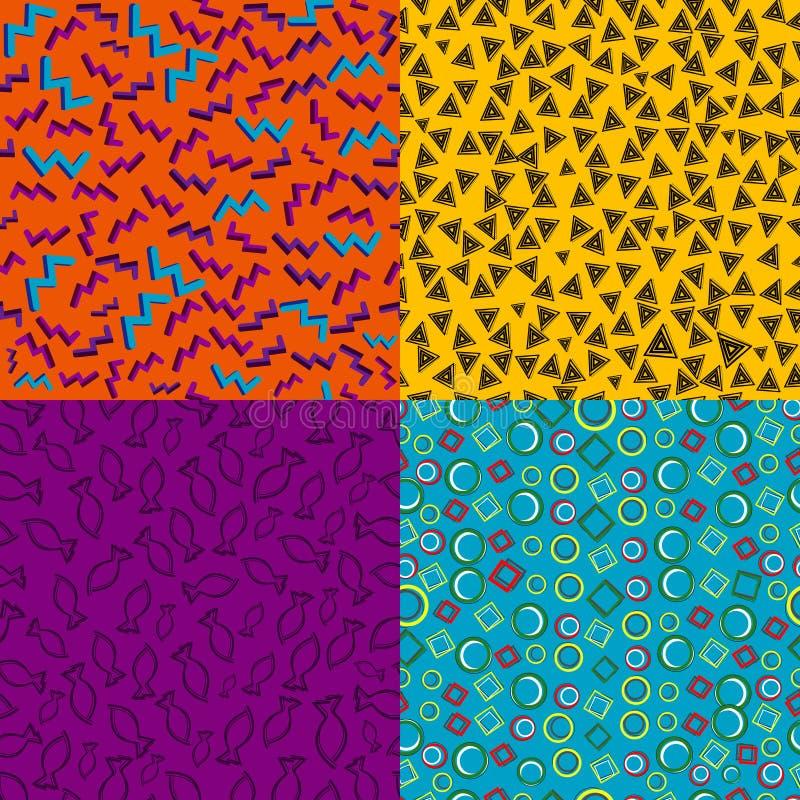 Modèles géométriques de vintage rétros illustration libre de droits