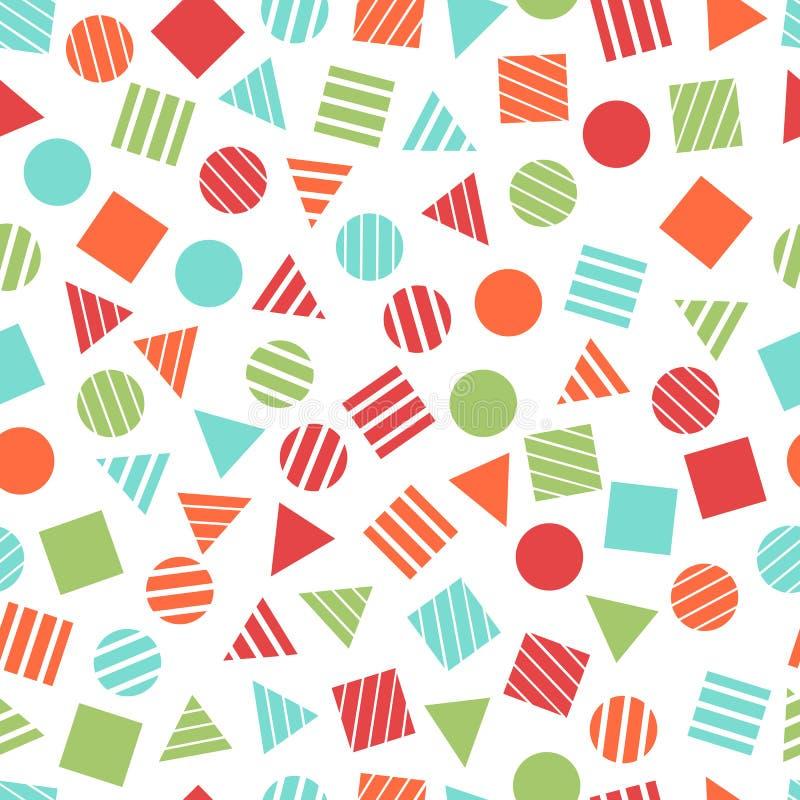 Modèles géométriques primitifs sans couture pour le tissu et les cartes postales illustration libre de droits