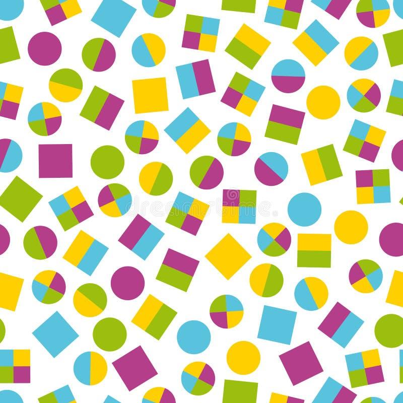 Modèles géométriques primitifs sans couture pour le tissu et les cartes postales illustration de vecteur