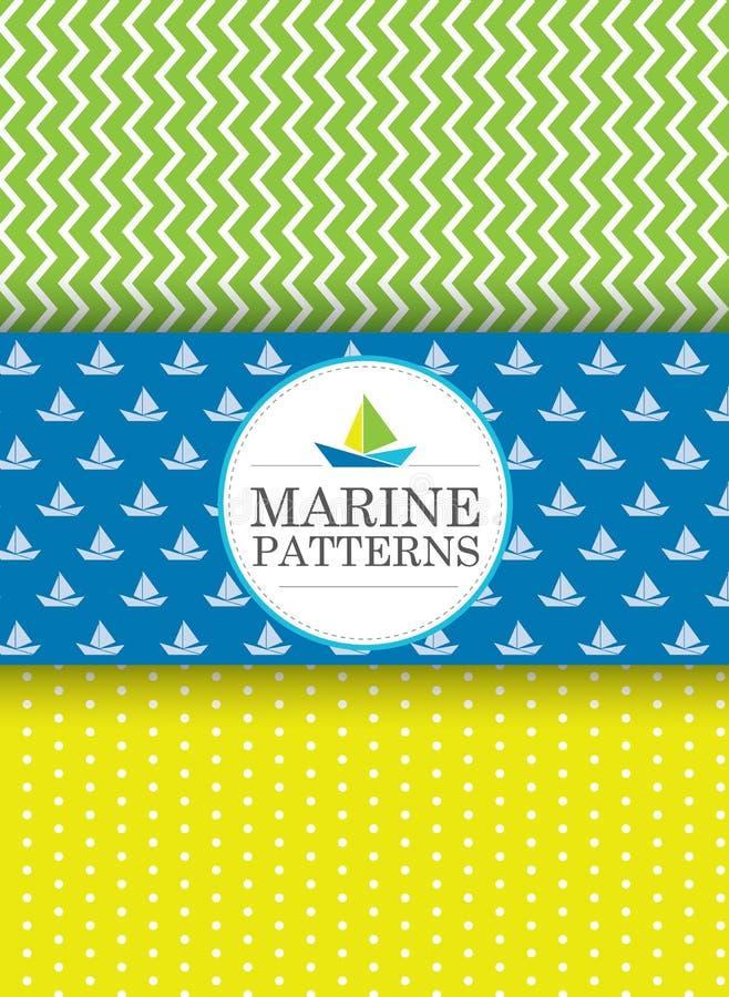 Modèles marins photographie stock
