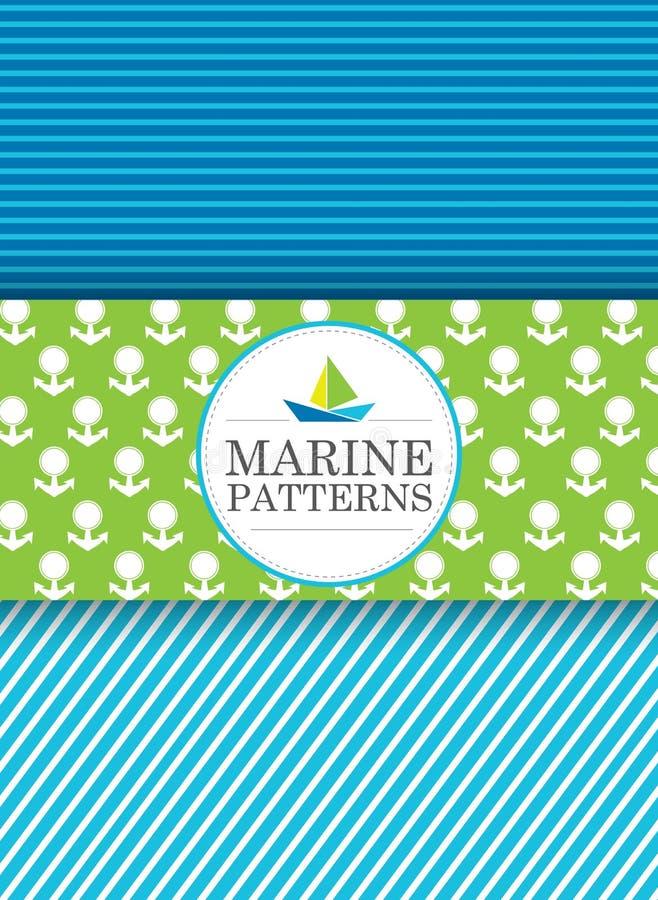 Modèles marins photo libre de droits