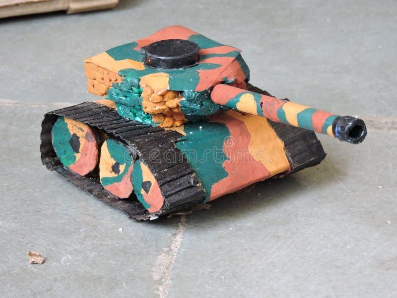 Modèles militaires de panzer de bateau-citerne dans le camaflouge photographie stock