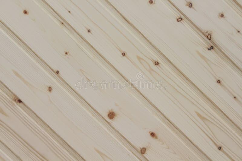 Modèles naturels obliques de pin de décoration en bois de planche de texture brun clair de mur abstraits pour le fond image libre de droits