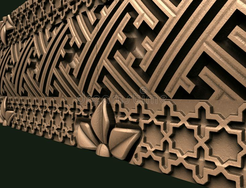 Modèles pour la conception intérieure architecturale, 3D illustration, artiste, texture, conception graphique, architecture, illu illustration stock