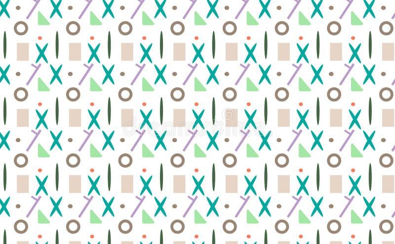 Modèles primitifs sans couture avec x illustration stock