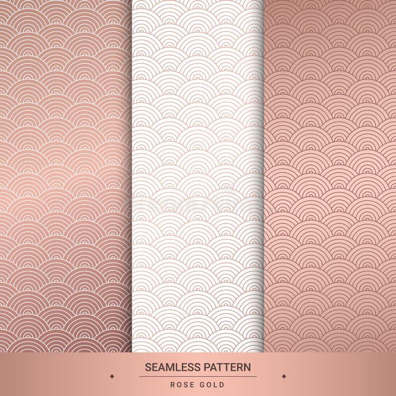 Modèles roses sans couture d'or Fond de luxe pour le papier peint, PA illustration stock