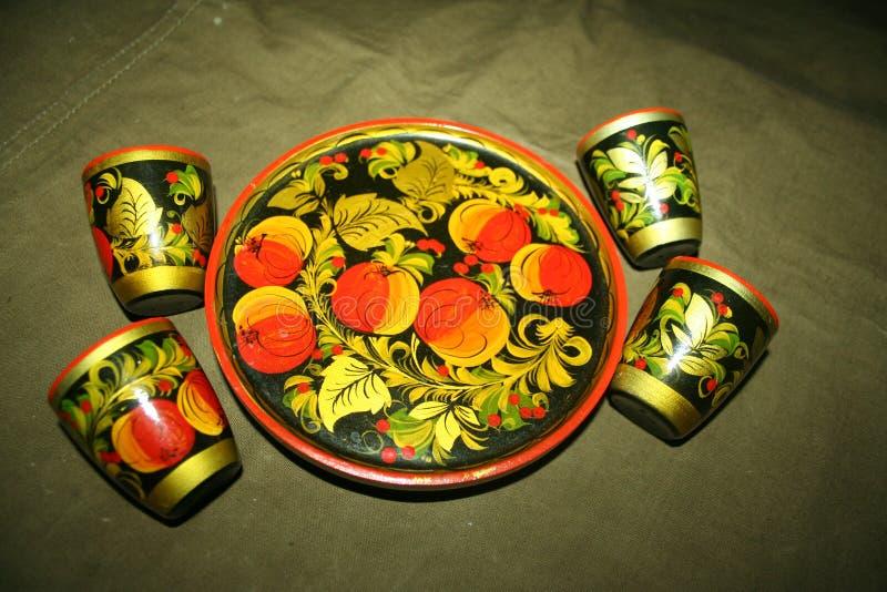 Modèles russes, métiers folkloriques russes, faits main image stock