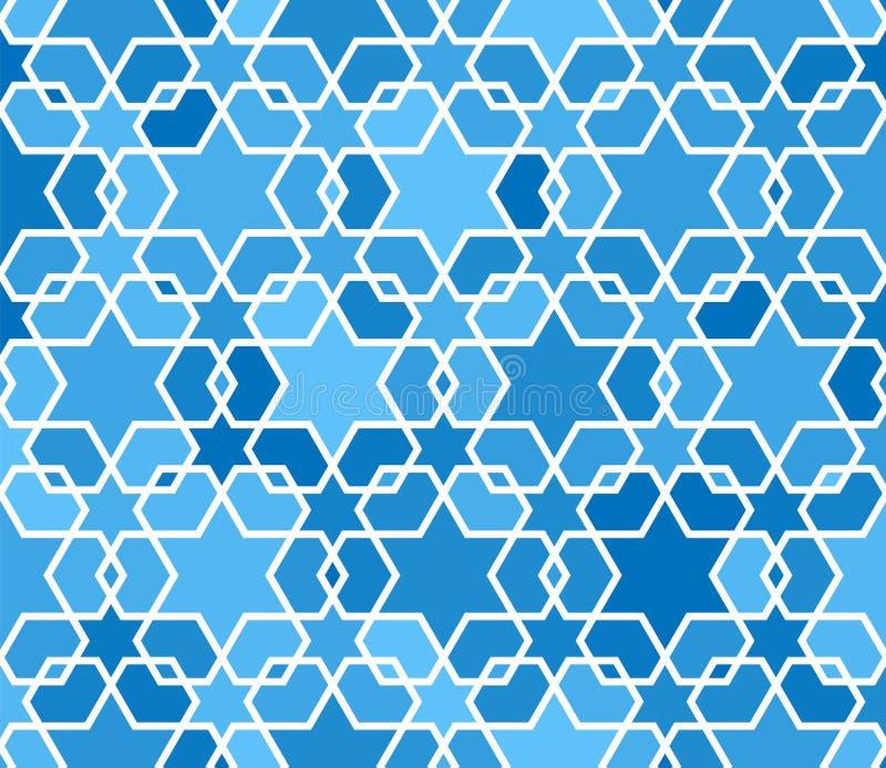 Modèles sans couture arabes motifs de remplissage Style oriental et arabe Modèles sans couture de mosaïque Ornements arabes illustration stock
