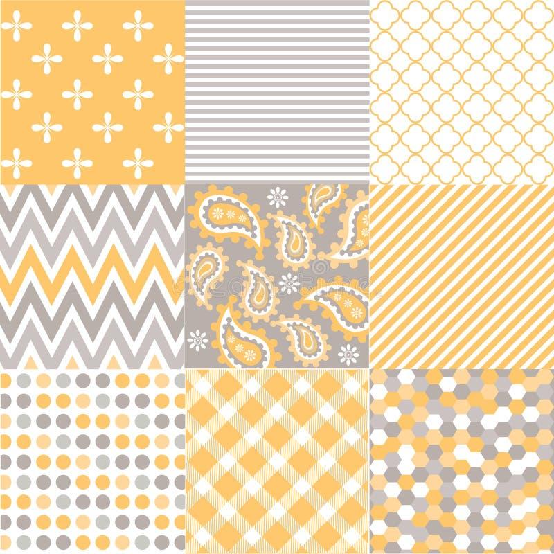 Modèles sans couture avec la texture de tissu illustration stock