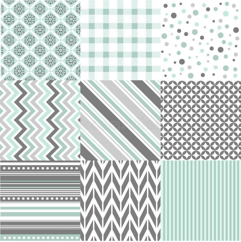 Modèles sans couture avec la texture de tissu illustration libre de droits