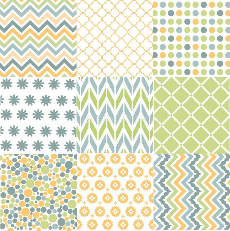Modèles sans couture avec la texture de tissu illustration de vecteur