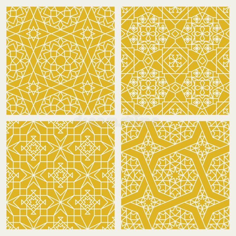 Modèles sans couture d'oriental de mosaïque illustration de vecteur
