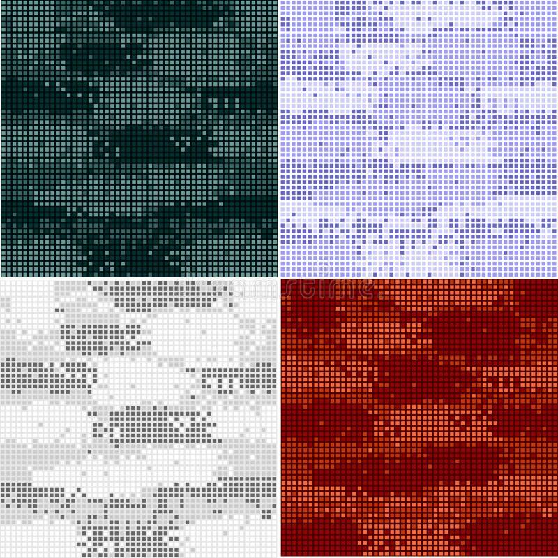 Modèles sans couture de camouflage de Digital - ensemble de vecteur illustration libre de droits