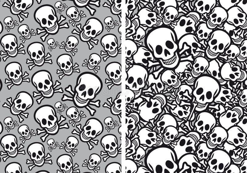 Modèles sans couture de crânes, vecteur illustration stock