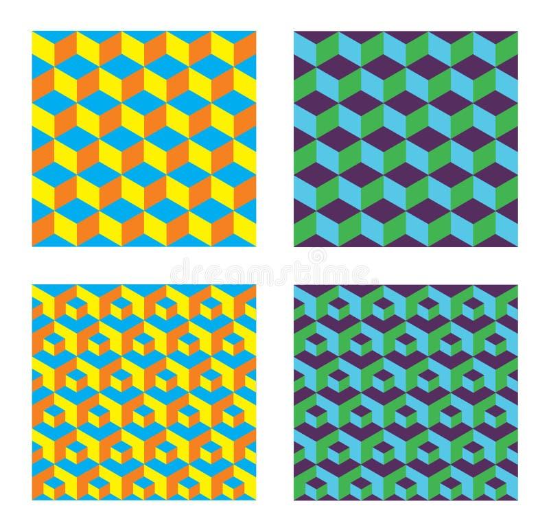 Modèles sans couture de cubes illustration de vecteur