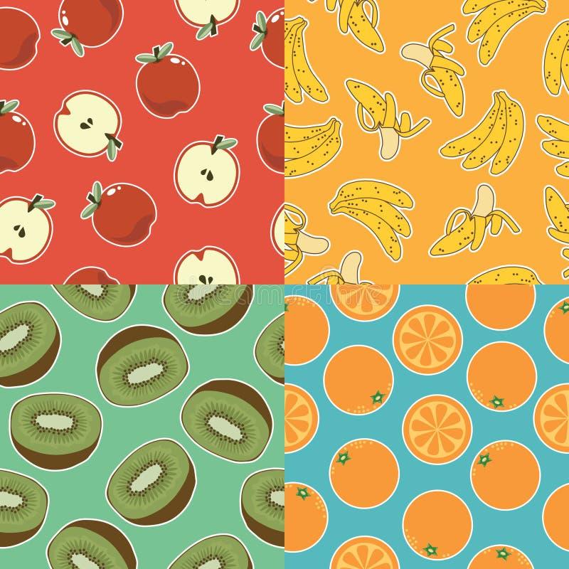 Modèles sans couture de fruit photographie stock libre de droits