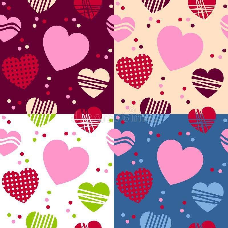 Modèles sans couture de jour de Valentine s illustration stock