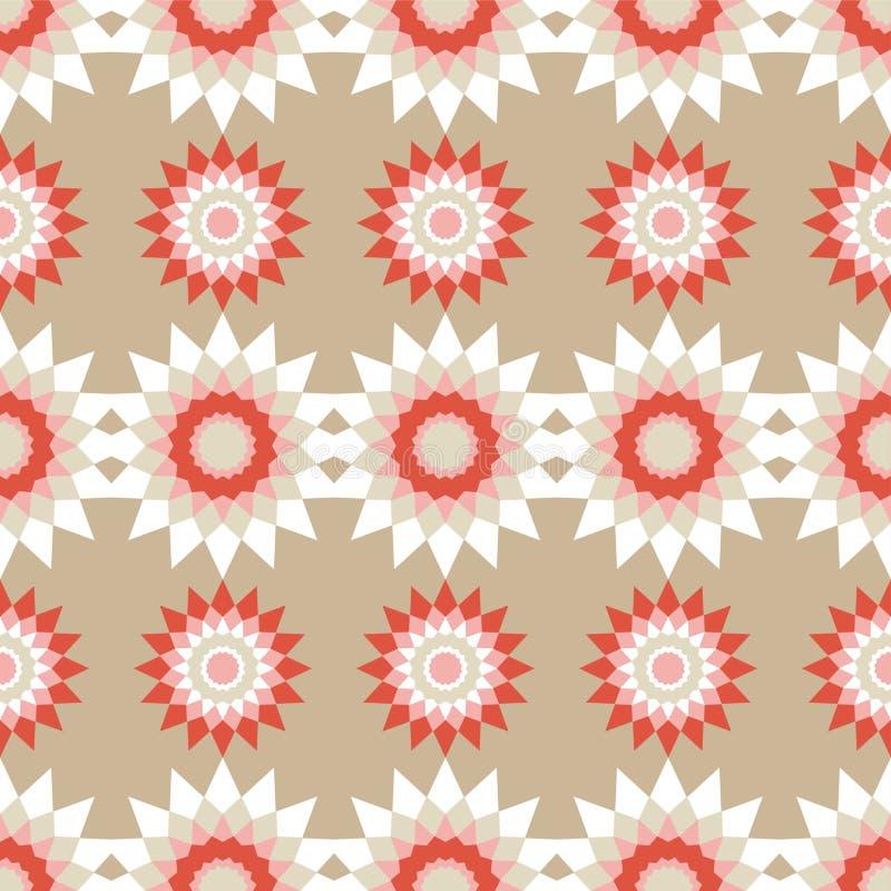 Modèles sans couture de mosaïque marocaine Rétro motif illustration de vecteur