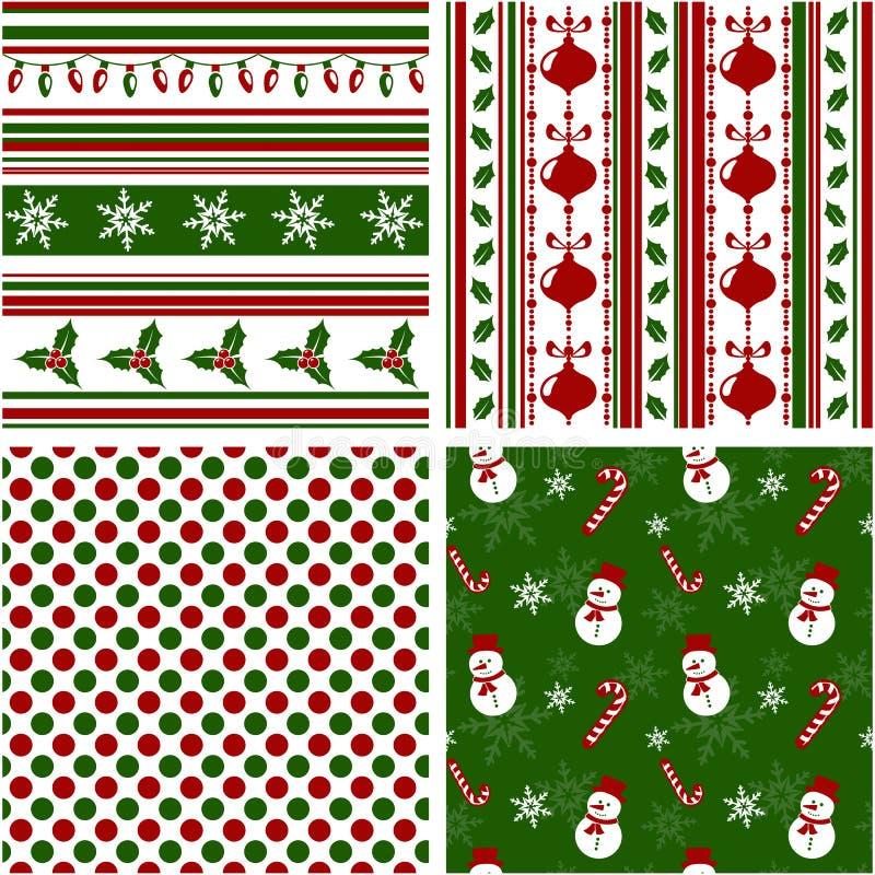 Modèles sans couture de Noël. Illustration de vecteur. illustration libre de droits