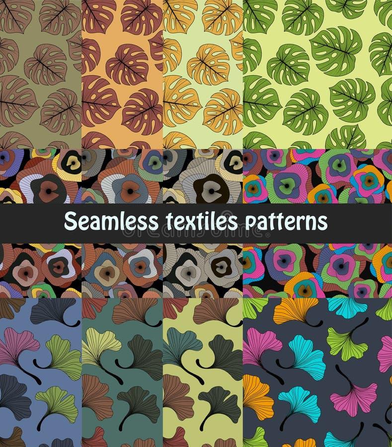 Modèles sans couture de textiles illustration libre de droits