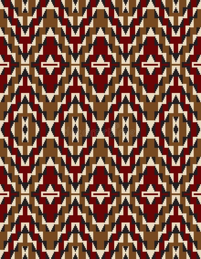 Modèles sans couture de tribal d'Indiens d'Amerique illustration stock