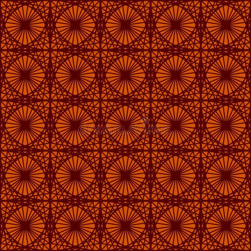 Modèles sans couture de vintage sur le fond rouge foncé Ornement fin de brocard Modèles de papier luxueux de textile ou d'envelop illustration libre de droits