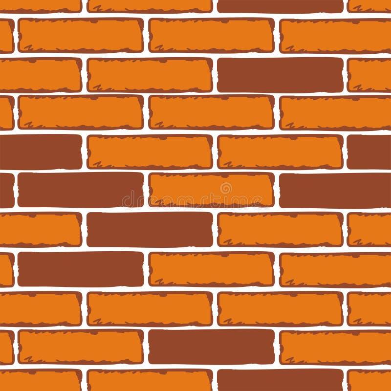 Modèles sans couture des murs de briques Actions de vecteur illustration de vecteur