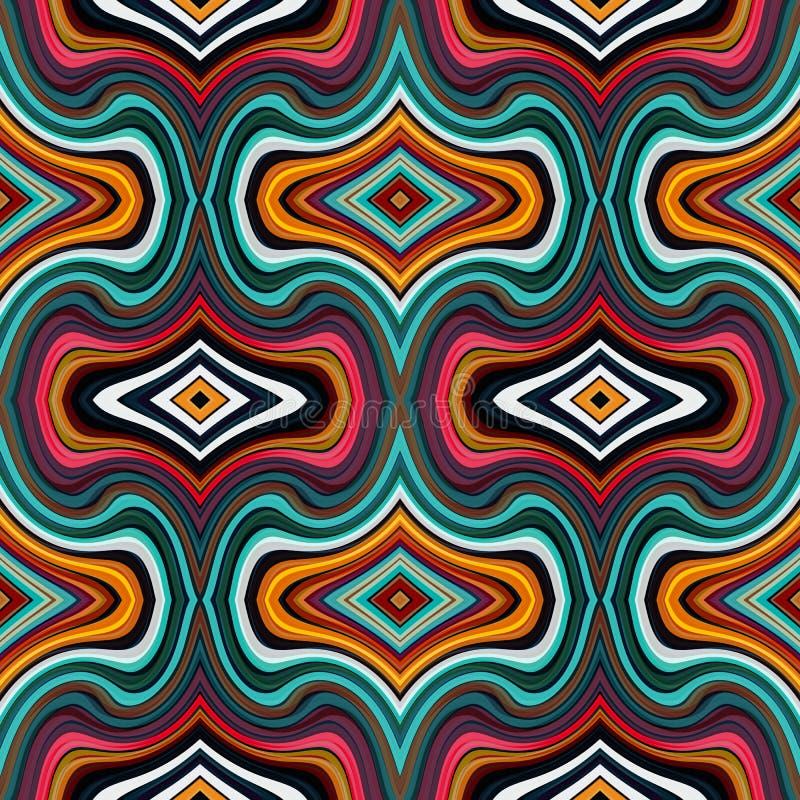 Modèles sans couture géométriques colorés illustration libre de droits