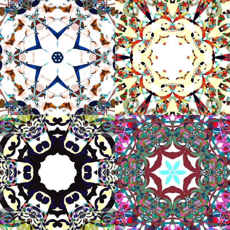 Modèles sans couture magnifiques de patchwork illustration stock
