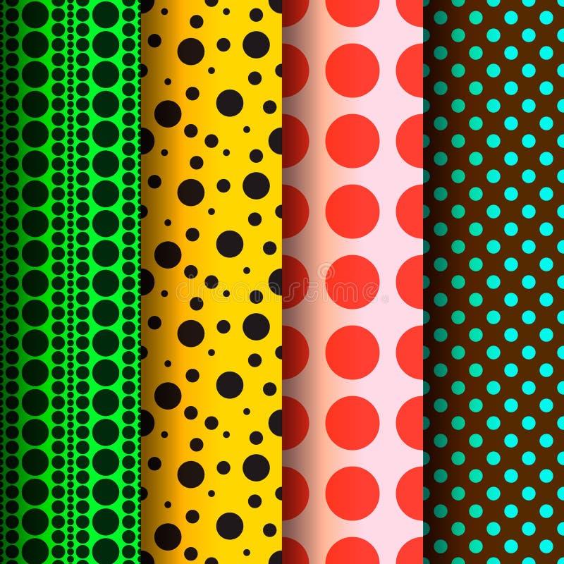 Modèles sans couture, points de polka réglés illustration libre de droits