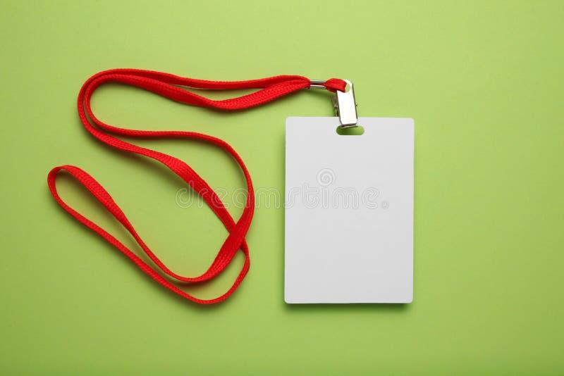 Modélisation de l'insigne du personnel, carte d'étiquette du nom Identification, accessibilité, publicité, pièce jointe, coulisse images stock