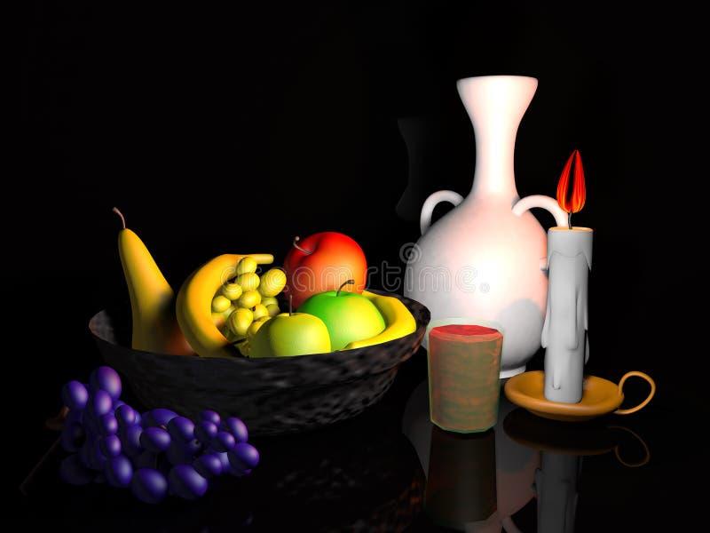Modélisation de la corbeille de fruits illustration stock