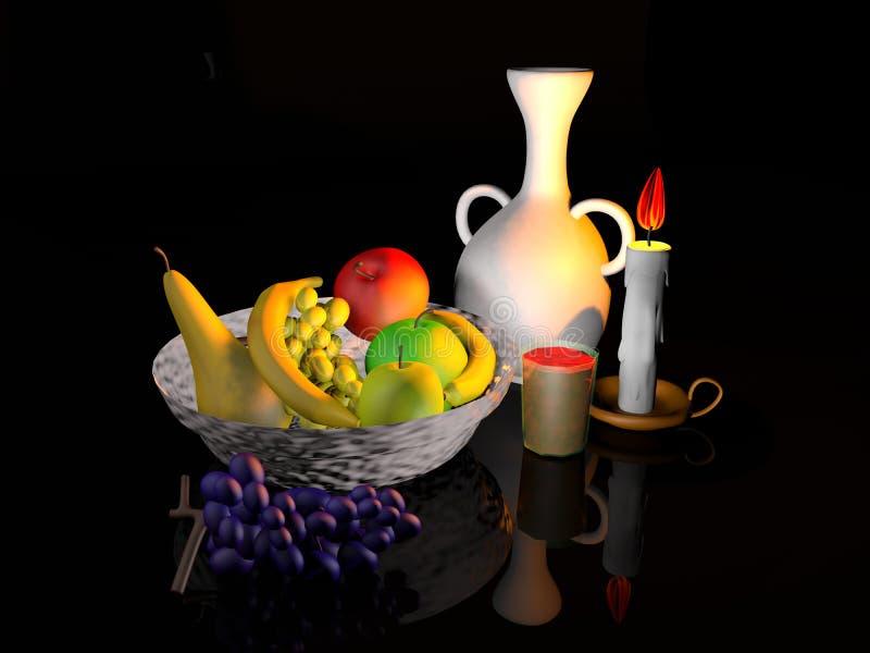 Modélisation de la corbeille de fruits photos stock