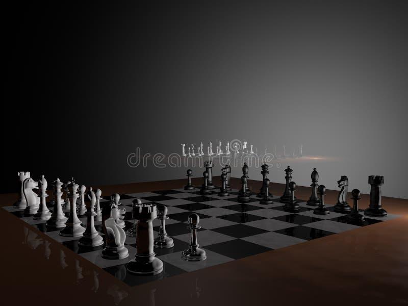 Modélisation des échecs illustration stock
