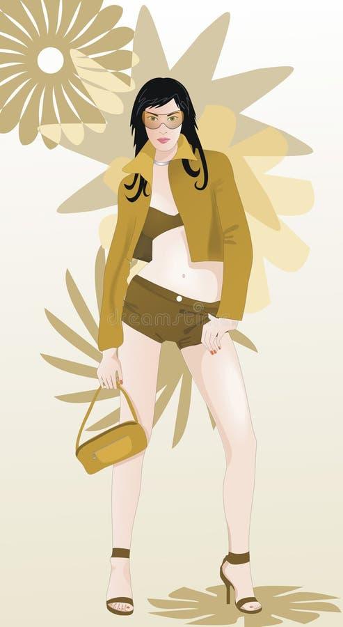 mod 2 dziewczyna royalty ilustracja