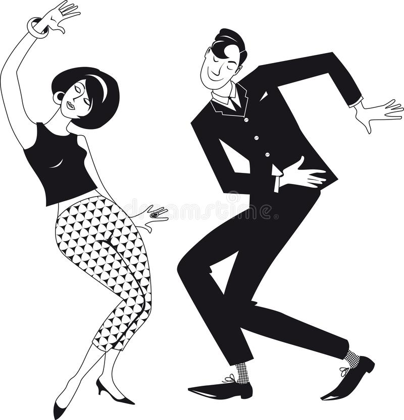 Swing Dancing Clip Art Stock Illustrations – 83 Swing