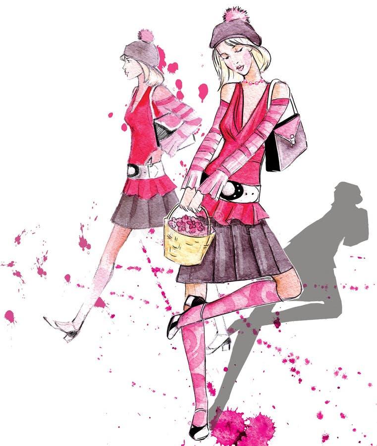 mod dziewczyny ilustracja wektor