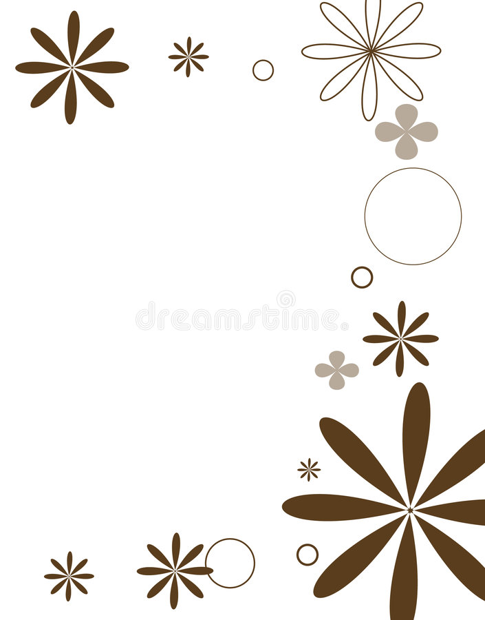 Mod flower series brown vector illustration
