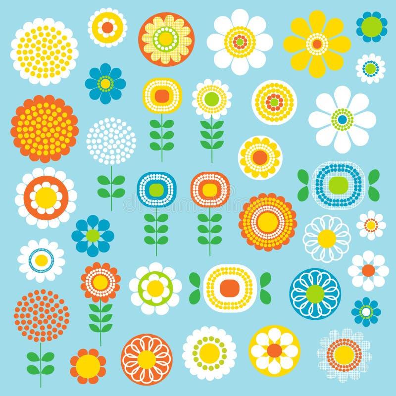 Mod kwiaty ilustracji
