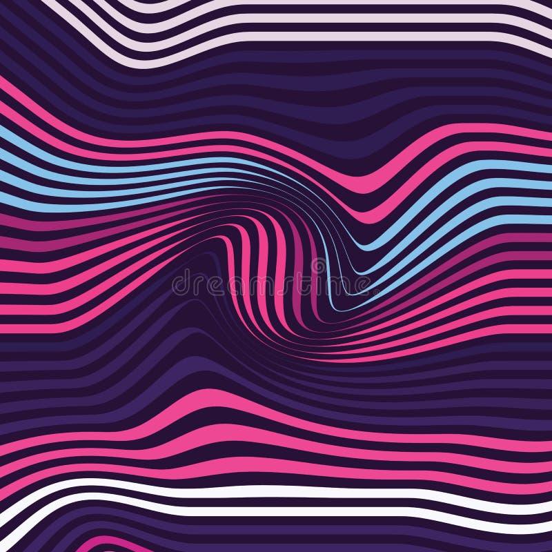 Mod?le avec les vagues g?om?triques Texture ?l?gante Fond de couleur d'ondulation illustration stock