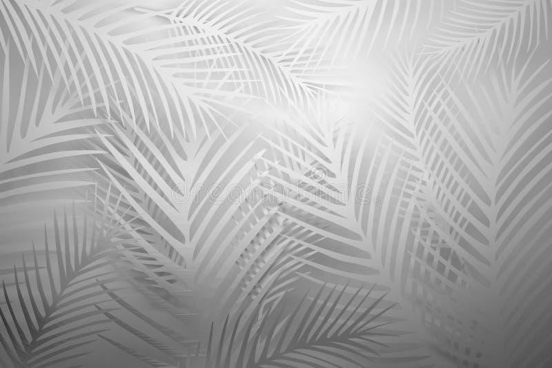 Mod?le blanc avec des feuilles illustration libre de droits